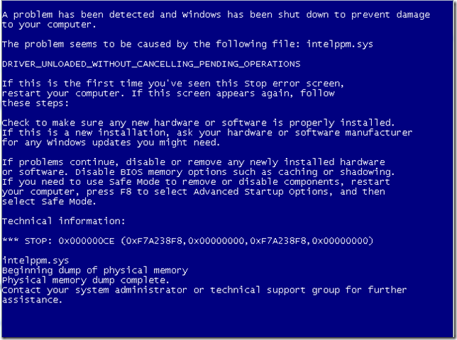 VirtualBox Bluescreen