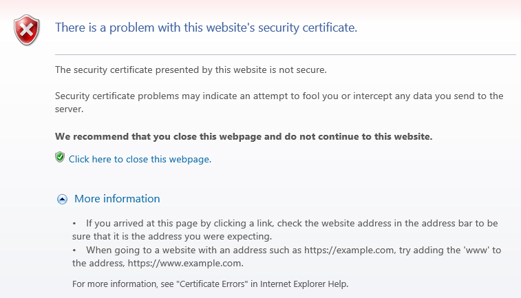 What Does The This Certificate Has An Invalid Digital Signature