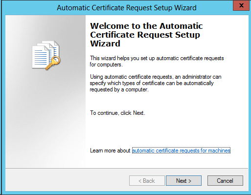 Active directory domain controllers and certificate auto the steps above will lead to the following setting yadclub
