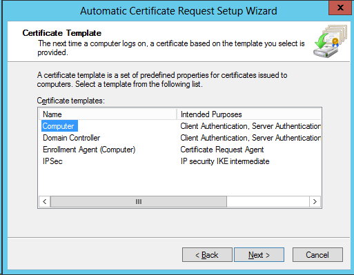 Active directory domain controllers and certificate auto enrollment the steps above will lead to the following setting yadclub Images