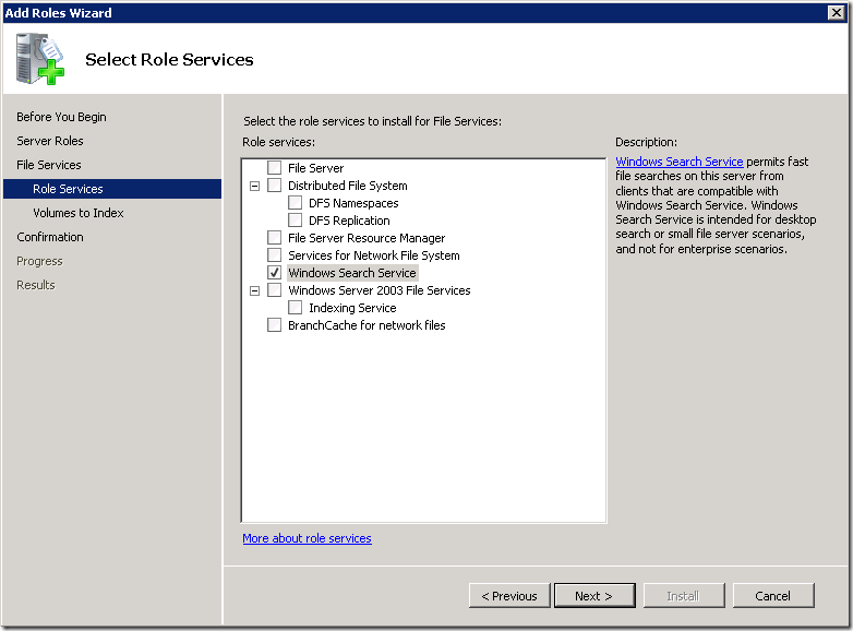 Enabling Windows Search on Windows Server 2008 R2 | Morgan